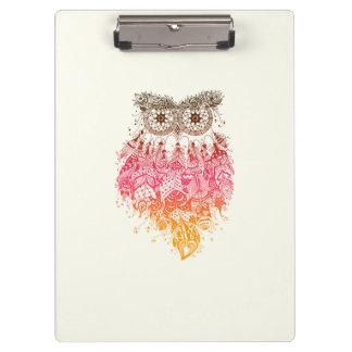 Orange Owl Dream to catcher Clipboard