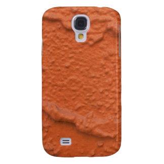 Orange paint texture galaxy s4 case