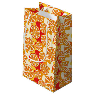 Orange pattern small gift bag
