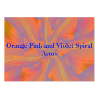 Orange Pink and Violet Spiral Arms Card Pack Of Chubby Business Cards