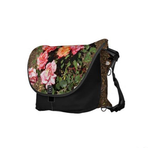 Orange Pink And Yellow Roses Messenger Bag