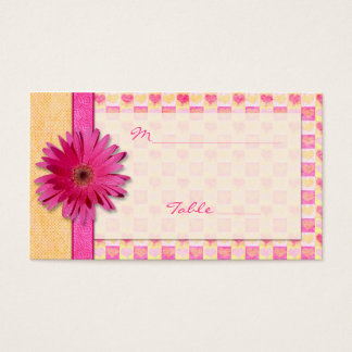 Orange Pink Daisy Special Occasion Place Card