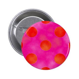 Orange & Pink Dots Pinback Buttons
