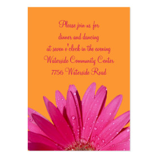 Orange & Pink Gerbera Daisy Reception Card Business Cards