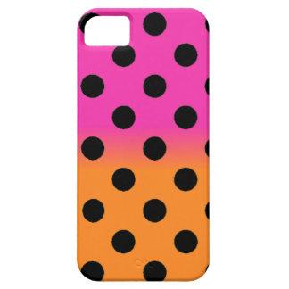 Orange Pink Polka Dot iPhone 5 Case