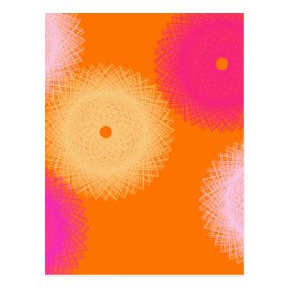 orange & pink pop color postcard