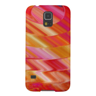 Orange Pink Swirl Galaxy S5 Cover