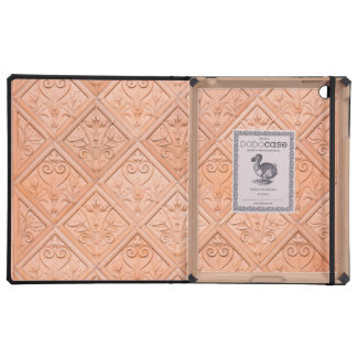 Orange Pink Terracotta Pattern Covers For iPad
