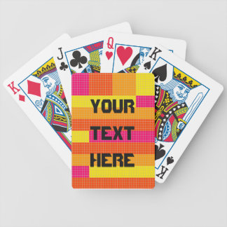 Orange Pink Yellow Pixel Pattern Card Deck
