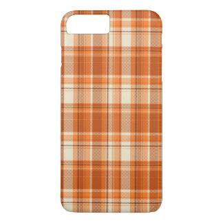 Orange plaid iPhone 8 plus/7 plus case