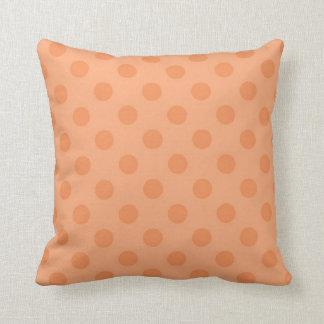 Orange Poka-Dot Grade A Cotton Throw Pillow Throw Cushions