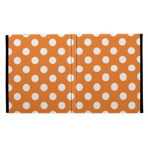Orange Polka Dot iPad Folio Covers