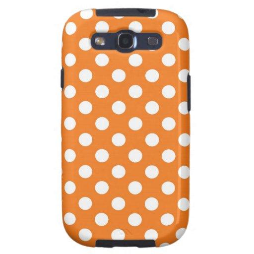 Orange Polka Dot Samsung Galaxy S3 Case