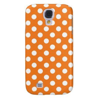 Orange Polka Dot Galaxy S4 Cover