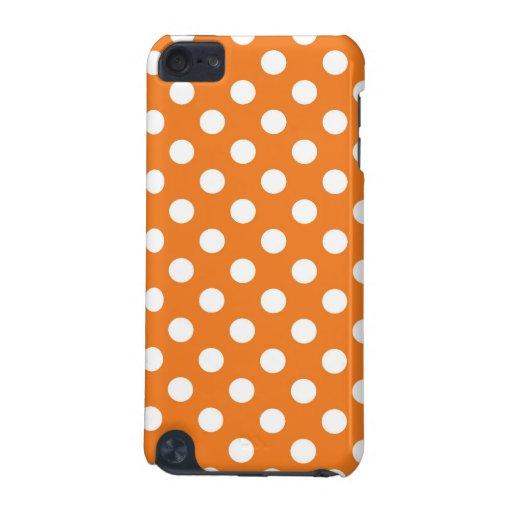Orange Polka Dot iPod Touch (5th Generation) Case