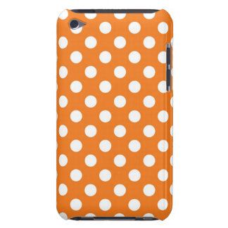 Orange Polka Dot Barely There iPod Cases