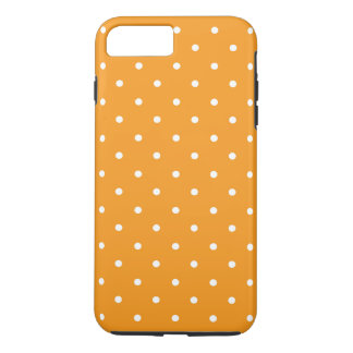Orange Polka Dot Design iPhone 7 Plus Case