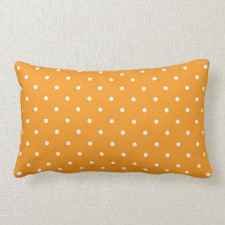 Orange Polka Dot Design Lumbar Pillow
