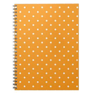 Orange Polka Dot Design Note Book