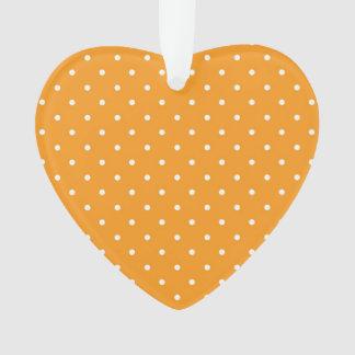 Orange Polka Dot Design Ornament