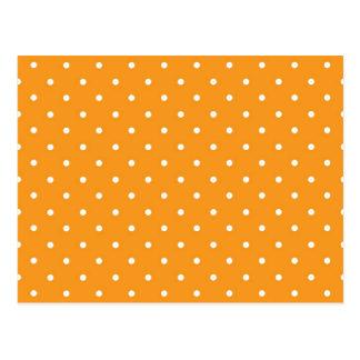 Orange Polka Dot Design Postcard