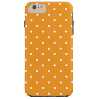Orange Polka Dot Design Tough iPhone 6 Plus Case