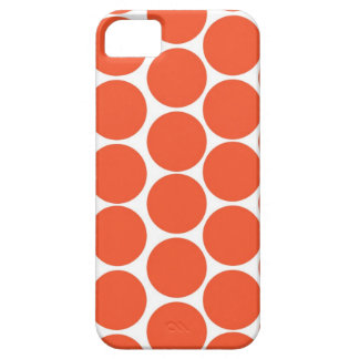 Orange Polka Dot iPhone Case