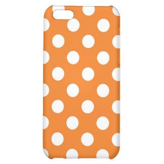 Orange Polka Dot Case For iPhone 5C