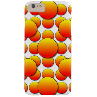 Orange Polka Dot Madness Barely There iPhone 6 Plus Case