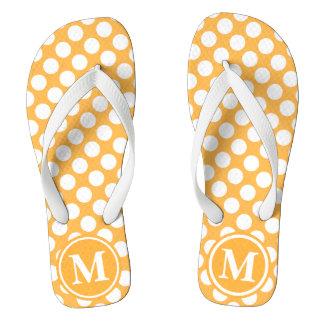 Orange Polka Dot Monogrammed Thongs