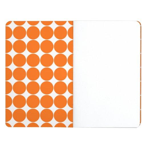 Orange polka dot pattern journal