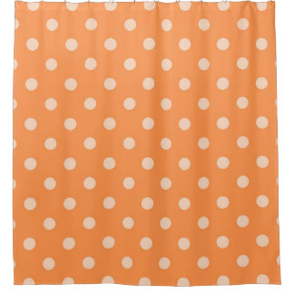 Orange Polka Dot Shower Curtain