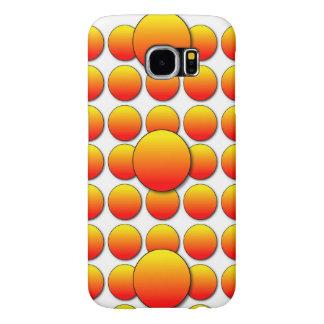 Orange Polka Dots 3D Samsung Galaxy S6 Cases