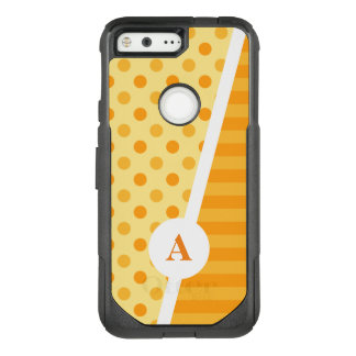 Orange Polka Dots and Stripes OtterBox Commuter Google Pixel Case