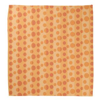 Orange Polka Dots Bandana