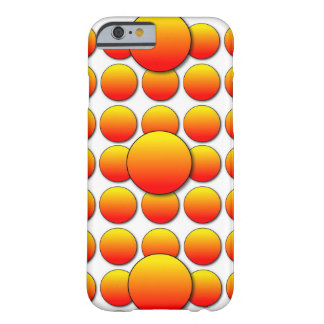 Orange Polka Dots Barely There iPhone 6 Case