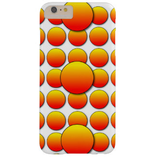 Orange Polka Dots Barely There iPhone 6 Plus Case