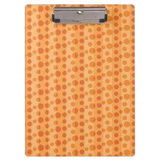 Orange Polka Dots Clipboards
