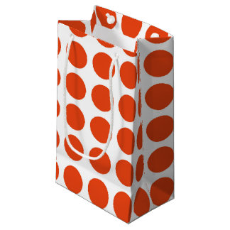 Orange Polka Dots Gift Bag