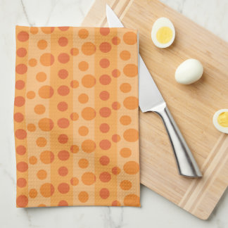 Orange Polka Dots Hand Towel