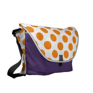 Orange Polka Dots Messenger Bags