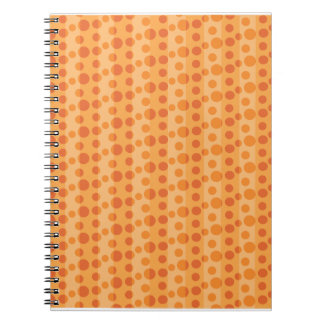 Orange Polka Dots Note Books