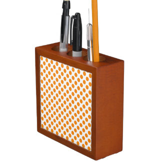 Orange Polka Dots Pencil Holder