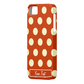 Orange Polka Dots - Personalize iPhone 5 Case
