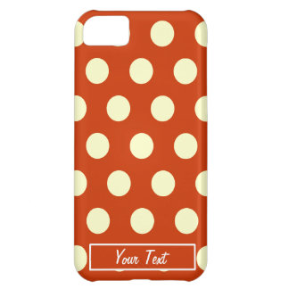 Orange Polka Dots - Personalize iPhone 5C Case
