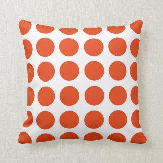 Orange Polka Dots Pillow