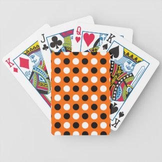 Orange Polka Dots Poker Cards