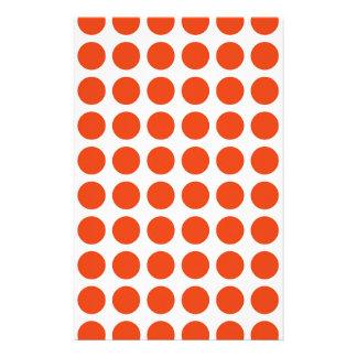Orange Polka Dots Stationery