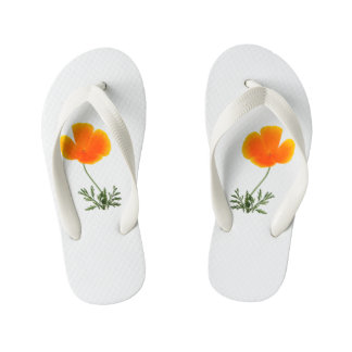 orange poppy thongs