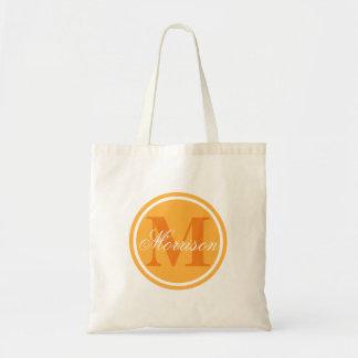 Orange Prestige Monogram Tote Bag
